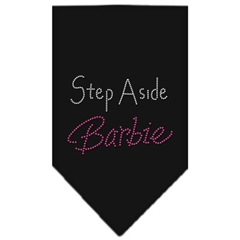 Mirage Pet Products Step Aside Barbie Rhinestone Bandana Black Large