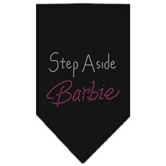 Mirage Pet Products Step Aside Barbie Rhinestone Bandana Black Small