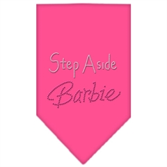 Mirage Pet Products Step Aside Barbie Rhinestone Bandana Bright Pink Small