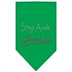 Mirage Pet Products Step Aside Barbie Rhinestone Bandana Emerald Green Large