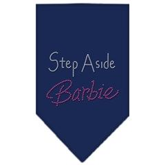 Mirage Pet Products Step Aside Barbie Rhinestone Bandana Navy Blue large