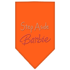Mirage Pet Products Step Aside Barbie Rhinestone Bandana Orange Small