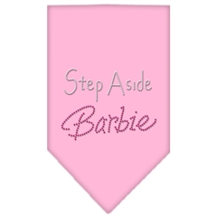 Mirage Pet Products Step Aside Barbie Rhinestone Bandana Light Pink Large