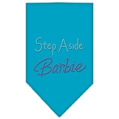 Mirage Pet Products Step Aside Barbie Rhinestone Bandana Turquoise Large