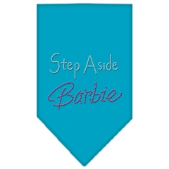 Mirage Pet Products Step Aside Barbie Rhinestone Bandana Turquoise Small