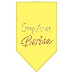 Mirage Pet Products Step Aside Barbie Rhinestone Bandana Yellow Large