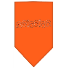 Mirage Pet Products Beach Sandals Rhinestone Bandana Orange Large
