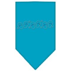 Mirage Pet Products Beach Sandals Rhinestone Bandana Turquoise Large