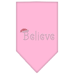 Mirage Pet Products Believe Rhinestone Bandana Light Pink Large