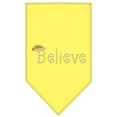 Mirage Pet Products Believe Rhinestone Bandana Yellow Large