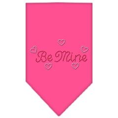 Mirage Pet Products Be Mine Rhinestone Bandana Bright Pink Small