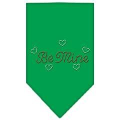 Mirage Pet Products Be Mine Rhinestone Bandana Emerald Green Small