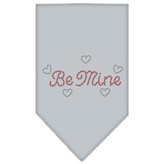 Mirage Pet Products Be Mine Rhinestone Bandana Grey Small