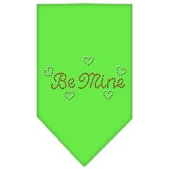 Mirage Pet Products Be Mine Rhinestone Bandana Lime Green Small