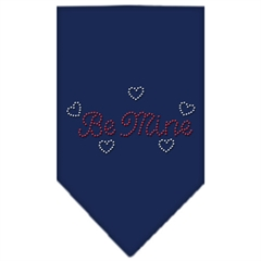 Mirage Pet Products Be Mine Rhinestone Bandana Navy Blue Small