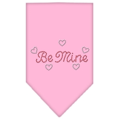 Mirage Pet Products Be Mine Rhinestone Bandana Light Pink Large