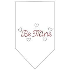 Mirage Pet Products Be Mine Rhinestone Bandana White Large