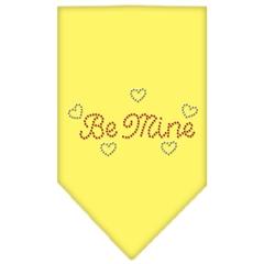 Mirage Pet Products Be Mine Rhinestone Bandana Yellow Small