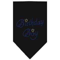 Mirage Pet Products Birthday Boy Rhinestone Bandana Black Large