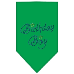 Mirage Pet Products Birthday Boy Rhinestone Bandana Emerald Green Small