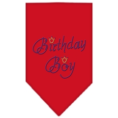 Mirage Pet Products Birthday Boy Rhinestone Bandana Red Small