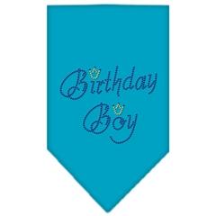 Mirage Pet Products Birthday Boy Rhinestone Bandana Turquoise Small