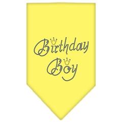 Mirage Pet Products Birthday Boy Rhinestone Bandana Yellow Small
