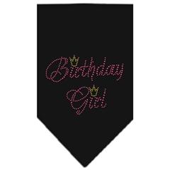 Mirage Pet Products Birthday Girl Rhinestone Bandana Black Large