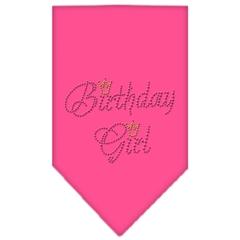 Mirage Pet Products Birthday Girl Rhinestone Bandana Bright Pink Small