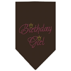 Mirage Pet Products Birthday Girl Rhinestone Bandana Cocoa Small