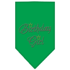 Mirage Pet Products Birthday Girl Rhinestone Bandana Emerald Green Small