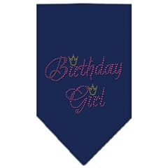 Mirage Pet Products Birthday Girl Rhinestone Bandana Navy Blue Small