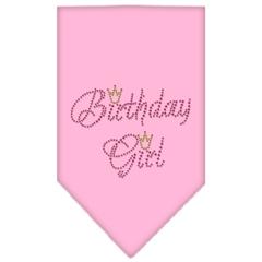 Mirage Pet Products Birthday Girl Rhinestone Bandana Light Pink Small