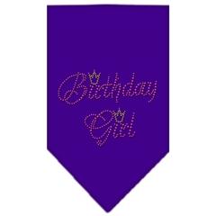 Mirage Pet Products Birthday Girl Rhinestone Bandana Purple Large