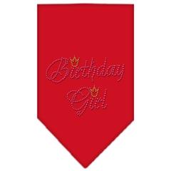 Mirage Pet Products Birthday Girl Rhinestone Bandana Red Large