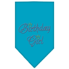 Mirage Pet Products Birthday Girl Rhinestone Bandana Turquoise Large