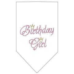 Mirage Pet Products Birthday Girl Rhinestone Bandana White Large