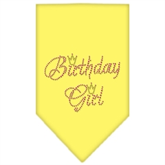 Mirage Pet Products Birthday Girl Rhinestone Bandana Yellow Small