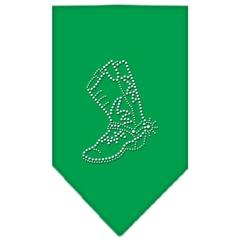 Mirage Pet Products Boot Rhinestone Bandana Emerald Green Large