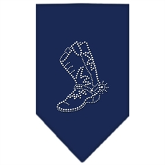 Mirage Pet Products Boot Rhinestone Bandana Navy Blue large