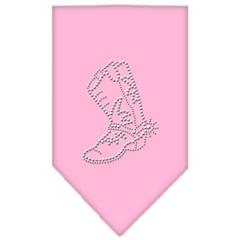 Mirage Pet Products Boot Rhinestone Bandana Light Pink Small