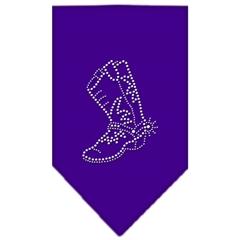 Mirage Pet Products Boot Rhinestone Bandana Purple Small