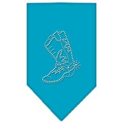 Mirage Pet Products Boot Rhinestone Bandana Turquoise Large