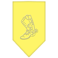 Mirage Pet Products Boot Rhinestone Bandana Yellow Small