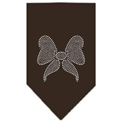 Mirage Pet Products Bow Rhinestone Bandana Cocoa Large