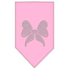 Mirage Pet Products Bow Rhinestone Bandana Light Pink Large