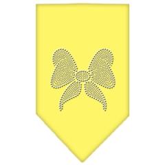 Mirage Pet Products Bow Rhinestone Bandana Yellow Small