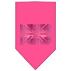 Mirage Pet Products British Flag Rhinestone Bandana Bright Pink Small