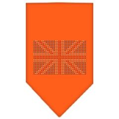 Mirage Pet Products British Flag Rhinestone Bandana Orange Large