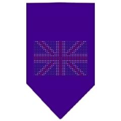 Mirage Pet Products British Flag Rhinestone Bandana Purple Large